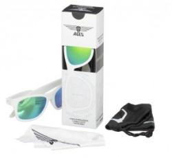 Babiators Ace Navigator Wicked white/Green lenses 6+ let ACE-014 otroška sončna očala
